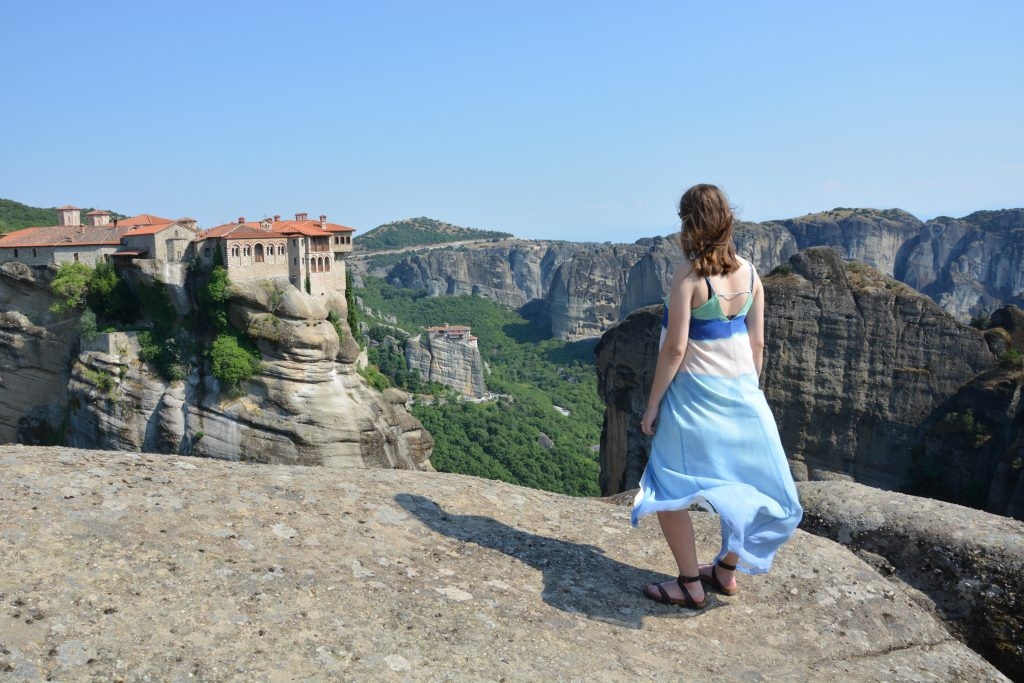Meteora monastery greece hiking