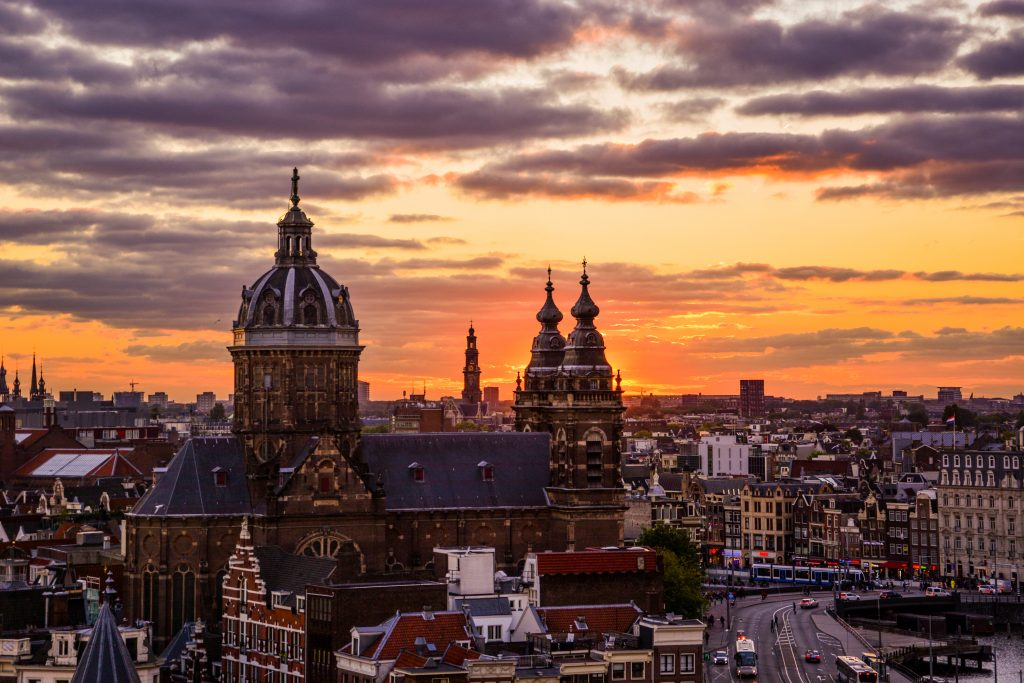Amsterdam view sky lounge